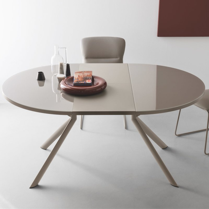 Beautiful Round Extendable Dining Table Giove Round Extendable Dining Table Reviews Allmodern