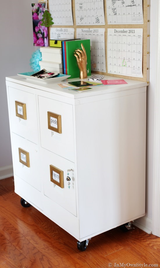 Beautiful Shallow File Cabinet File Cabinet Makeover In My Own Style
