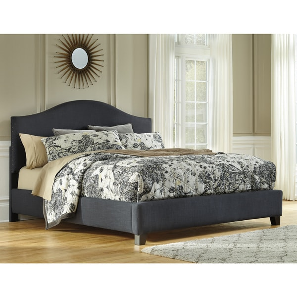 Beautiful Signature Design By Ashley Signature Design Ashley Kasidon Grey Queen Size Upholstered Bed