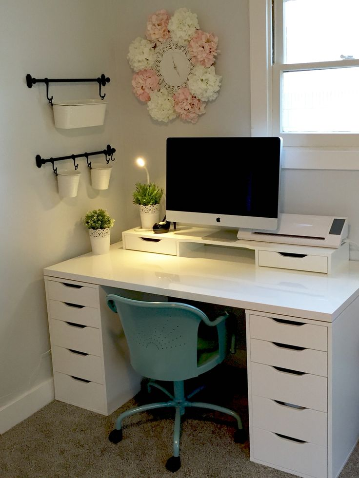 Beautiful Small Desk With Drawers Ikea Craft Room Ikea Alex Linnmon Diy Crafts Pinterest Ikea