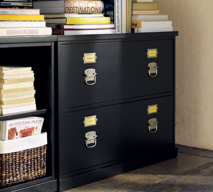 Beautiful Small Lateral File Cabinet Bedford Lateral File Cabinet Black Pottery Barn