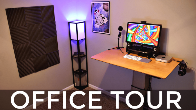 Beautiful Tech Desk Setup Standing Desk Setup Office Tour My Tech Methods
