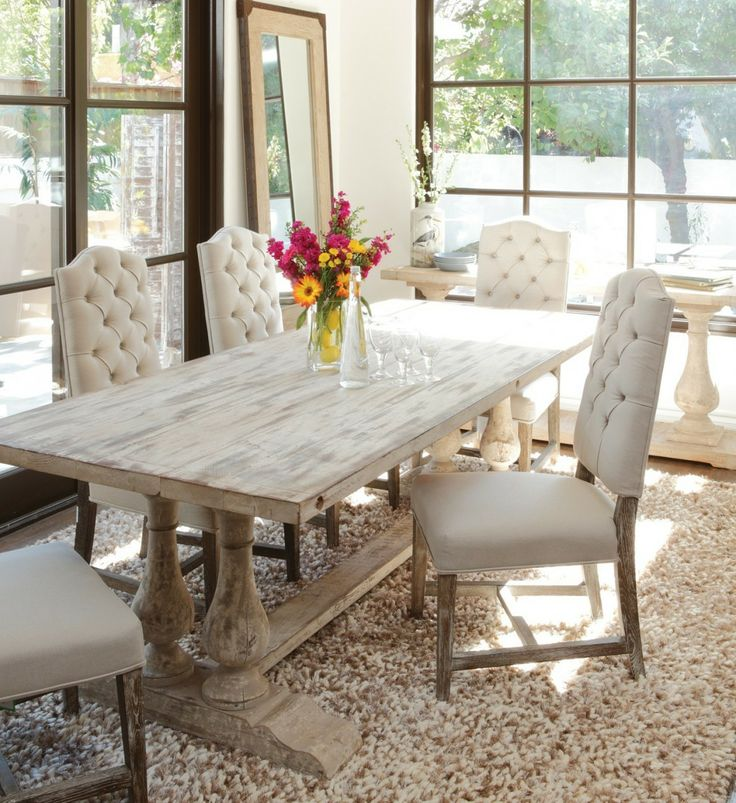 Beautiful Tufted Dining Room Set Best 20 Tufted Dining Chairs Ideas On Pinterest Dinning Table Regarding Linen Tufted Dining Chairs Decorating