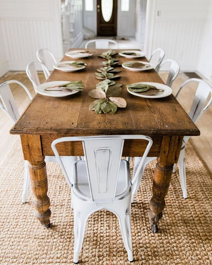 Beautiful White And Wood Kitchen Chairs Best 25 Farm Tables Ideas On Pinterest Dinning Room Furniture