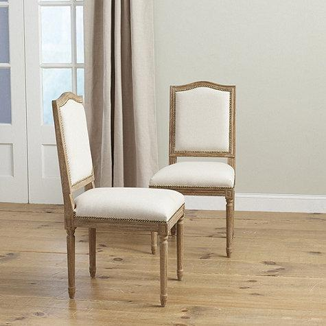 Beautiful White Cushioned Dining Chairs Wright Brown Linen Wood Dining Chairs