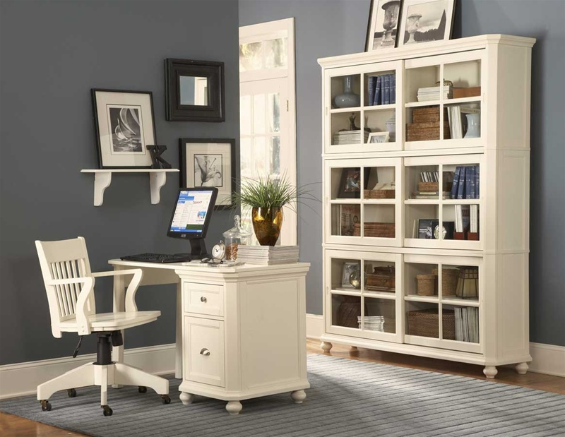Beautiful White Home Office Furniture Sets Hanna 3 Piece Desk In White Finish Homelegance 8891 F1