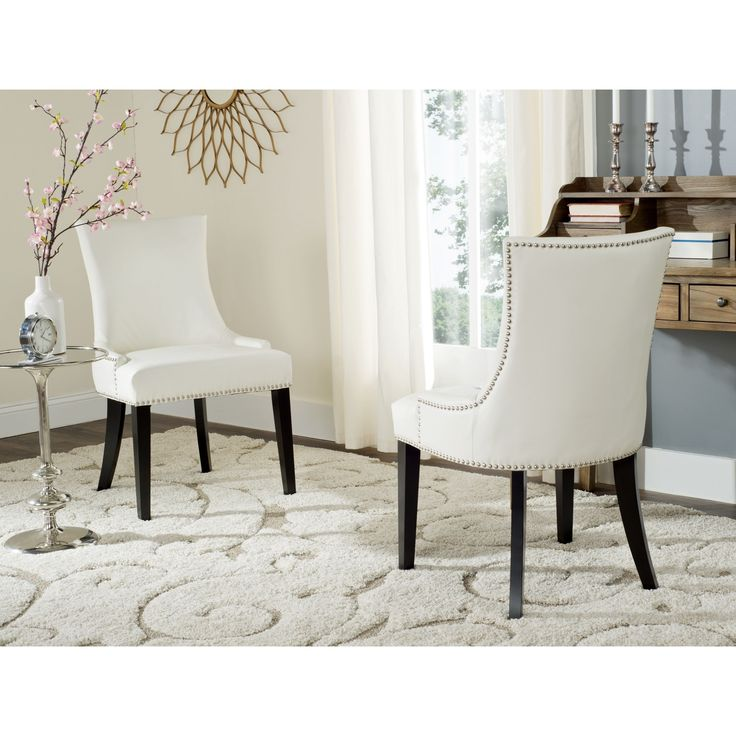 Beautiful White Leather Dining Chairs With Arms Best 25 White Leather Dining Chairs Ideas On Pinterest Kitchen