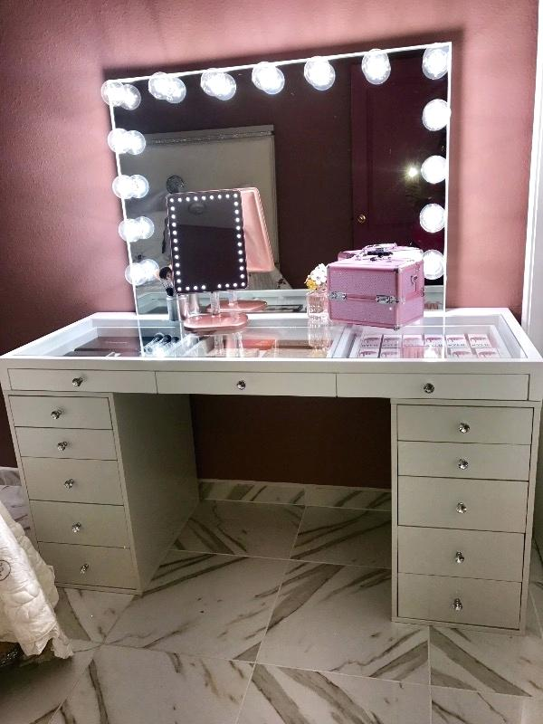 Beautiful White Makeup Vanity With Storage White Makeup Vanity With Drawers Architecture Impressions Vanity Co