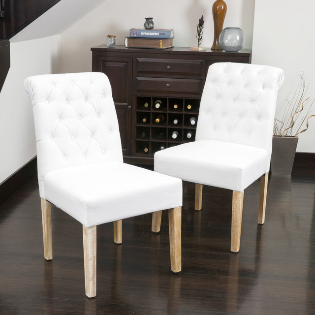 Beautiful White Tufted Dining Chairs Dining Room The Most Amazing In Addition To Gorgeous Tufted White