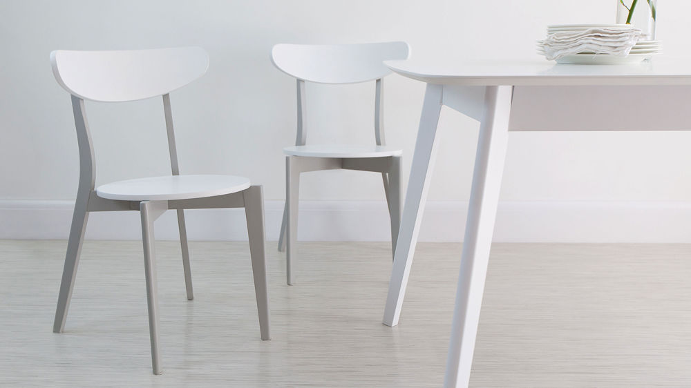 Beautiful White Wood Dining Chairs Senn Grey And White Kitchen Chair Dining Room Chairs