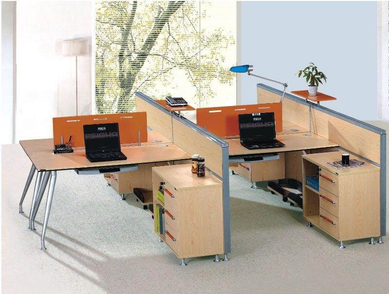 Beautiful Wholesale Office Furniture Top Quality Stylish Modular Furniture Three Seats Office Partition