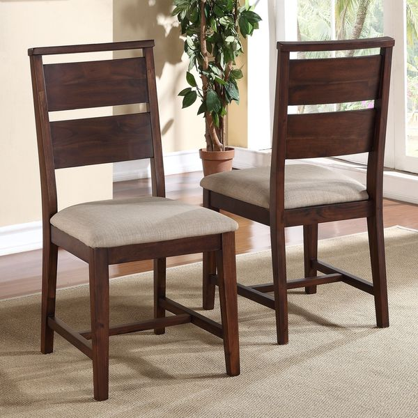 Beautiful Wooden Dining Stools Solid Wood Modern Dining Chair Set Of 2 Free Shipping Today