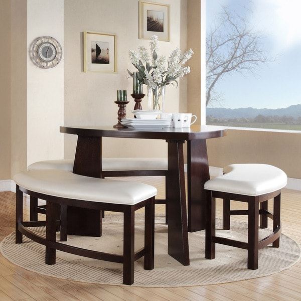 Best 4 Piece Dining Table Paradise Merlot Triangle Shaped 4 Piece Dining Set Inspire Q