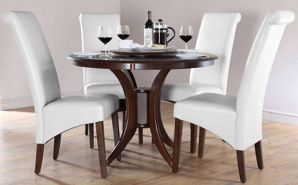 Best 4 Wooden Dining Chairs Round Wood Dining Table For 4 Insurserviceonline