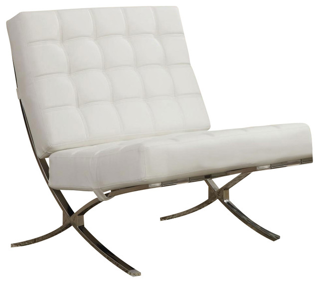 Best Accent Chair With Wheels X Style Waffle Accent Chair Chrome Legs And White Faux Leather