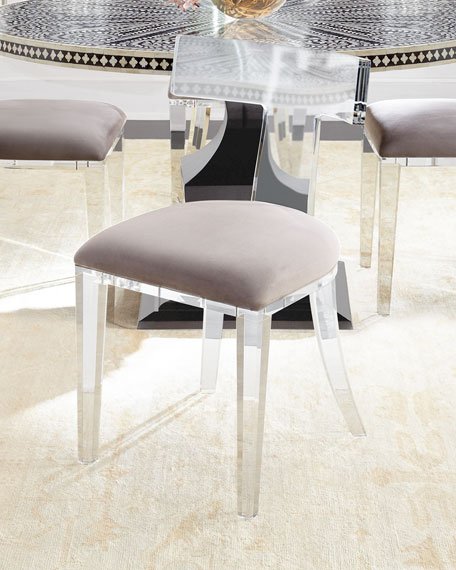 Best Acrylic Dining Chairs Interlude Home Nessy Acrylic Dining Chair