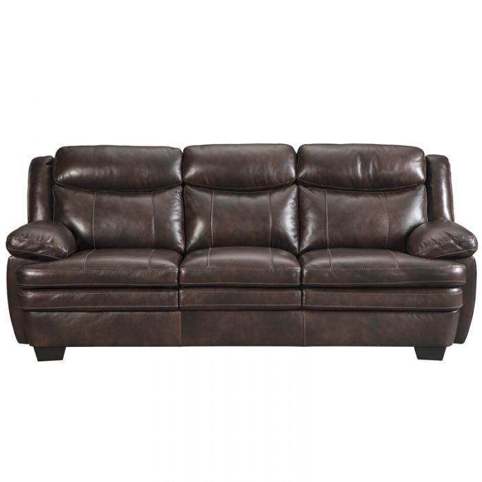 Best Ashley Brown Leather Sofa Ashley Hannalore Brown Leather Sofa Weekends Only Furniture