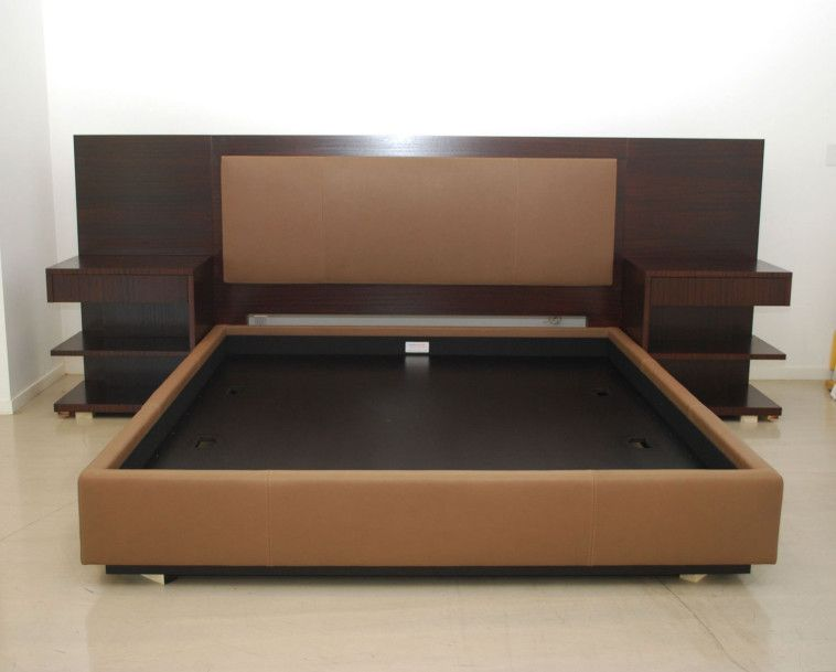 Best Bed With Side Headboard Modern King Platform Bed Frame Built In Side Table And Height
