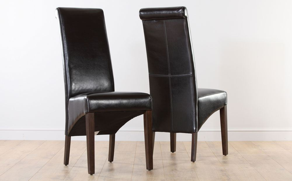 Best Black Brown Dining Chairs Dining Room Brown Leather Chairs Dohatour Magnificent Dining