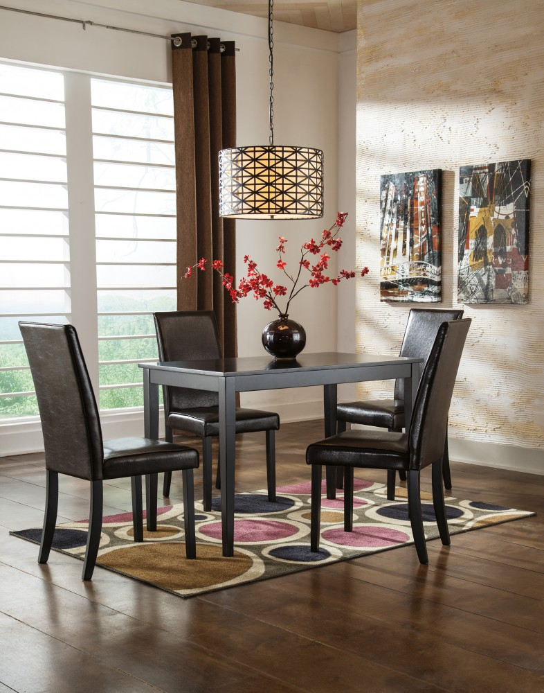 Best Black Dining Table And Chairs Set Kimonte Rectangular Table 4 Uph Side Chairs D25002425
