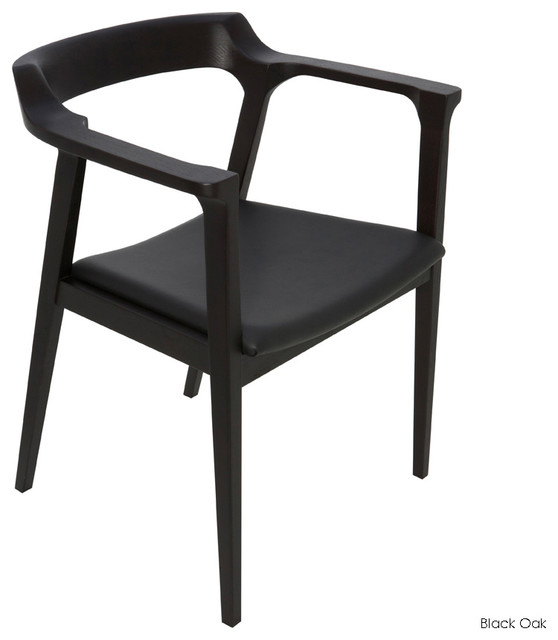Best Black Leather Dining Chairs With Arms Caitlan Dining Armchair Contemporary Dining Chairs Inmod