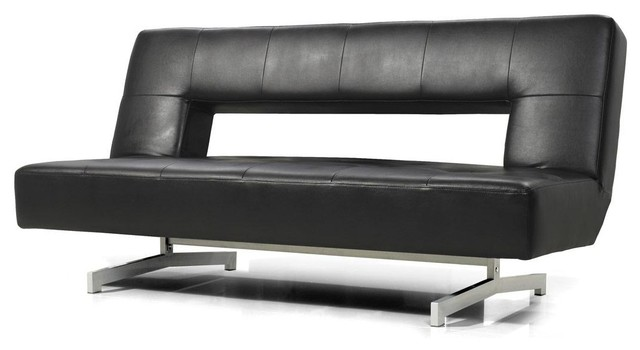 Best Black Leather Futon Couch Black Eco Leather Sofa Bed Modern Futons New York Furniture