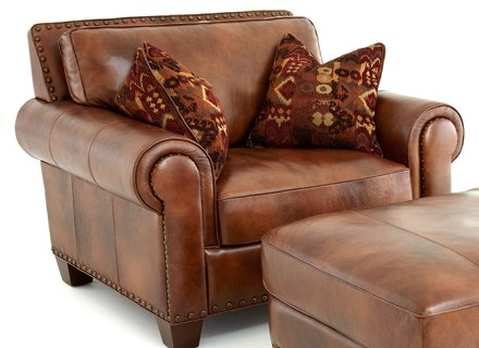 Best Brown Accent Chair With Ottoman Leather Accent Chair With Ottoman Chairs Home Decorating Ideas