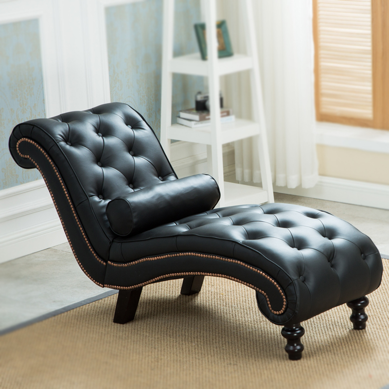 Best Chaise Lounge Chairs Living Room Furniture Aliexpress Buy Classic Leather Chaise Lounge Sofa With