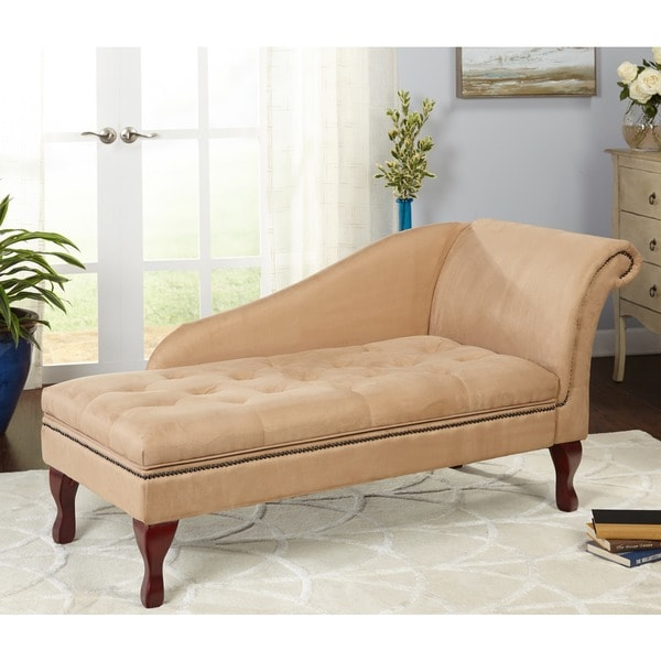 Best Chaise Lounge With Storage Space Simple Living Chaise Lounge With Storage Compartment Free