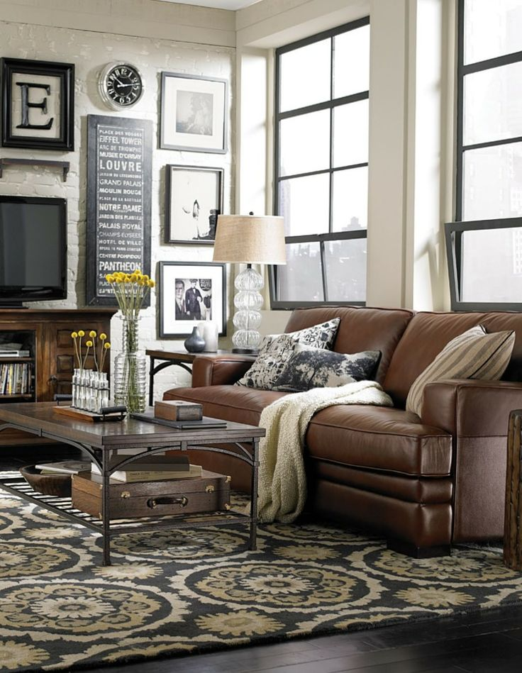 Best Chocolate Brown Leather Sofa Best 25 Leather Couch Decorating Ideas On Pinterest Brown