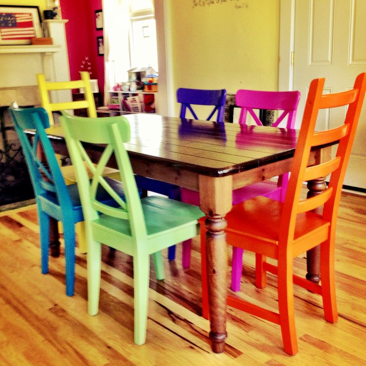 Room Best Colorful Kitchen Chairs 25 Coloured Dining Ideas On Pinterest Bright