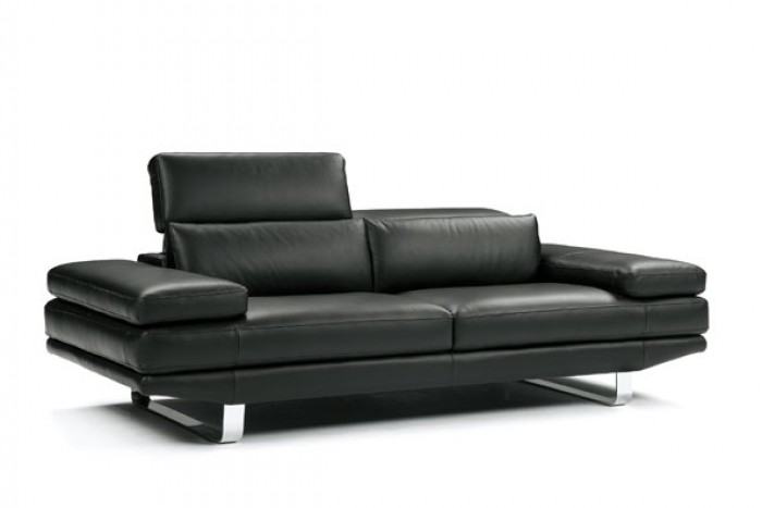 Best Contemporary Black Leather Sofa Contemporary Black Italian Leather Sofa Set