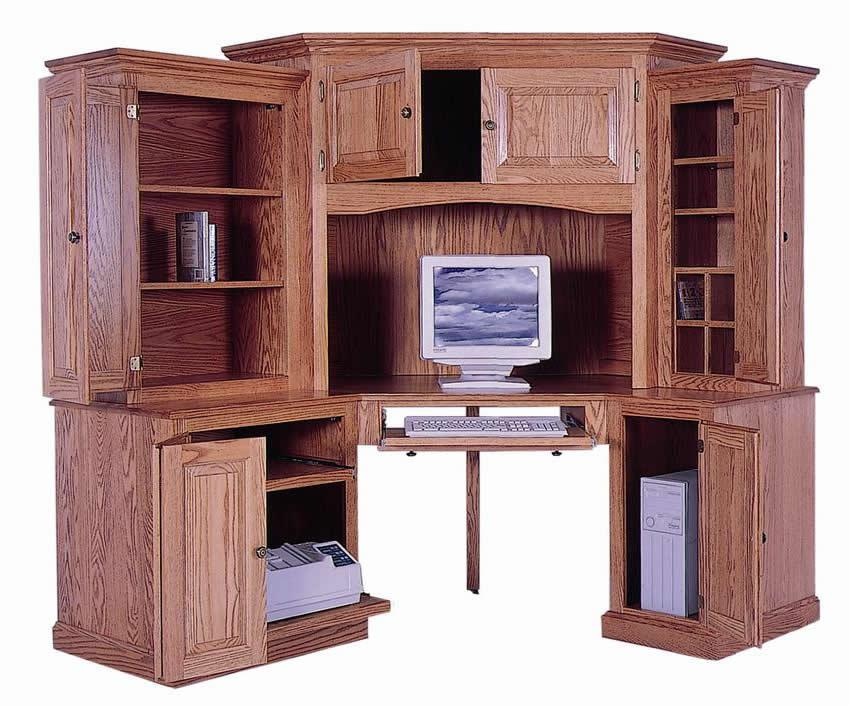Best Corner Computer Desk With Hutch 6 Piece Classic Computer Corner Desk