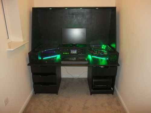 Best Crazy Computer Desk Crazy Computer Built Into Desk Interesting Idea But Id Prefer