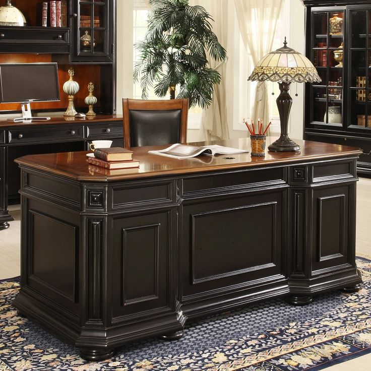 Best Dark Wood Office Desk Best 25 Executive Office Desk Ideas On Pinterest Executive