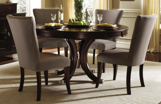 Best Dark Wood Round Table 50 Round Dining Table Design Ideas Ultimate Home Ideas