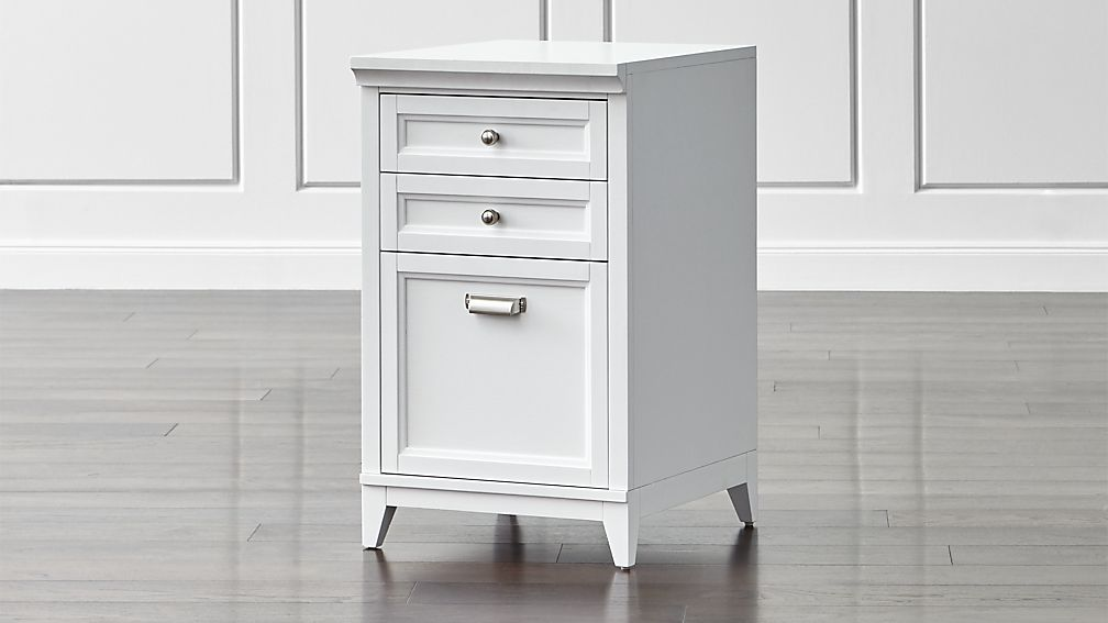 Best File Cabinet Furniture Harrison 18 White 3 Drawer Filing Cabinet Crate And Barrel