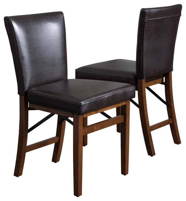 Best Folding Dining Chairs Rosalynn Dining Chairs Set Of 2 Transitional Folding Chairs