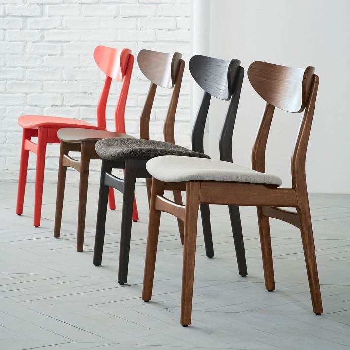 Best Furniture Dining Chairs Classic Caf Dining Chair Walnut West Elm