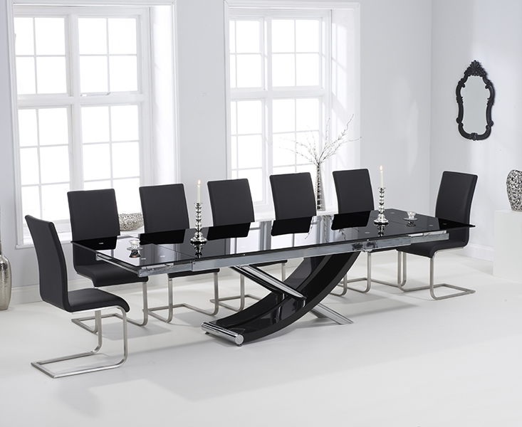 Best Glass Extendable Dining Table Set Inspiring Black Extending Dining Table And Chairs 50 With