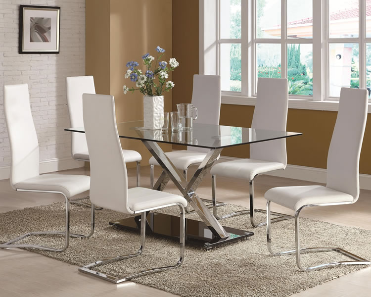 Best Glass Top Modern Dining Table Modern Glass Dining Room Table And Chairs Insurserviceonline