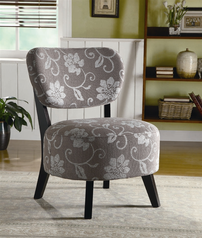 Best Grey And White Accent Chair Grey And White Floral Fabric Accent Chair Coaster 900419