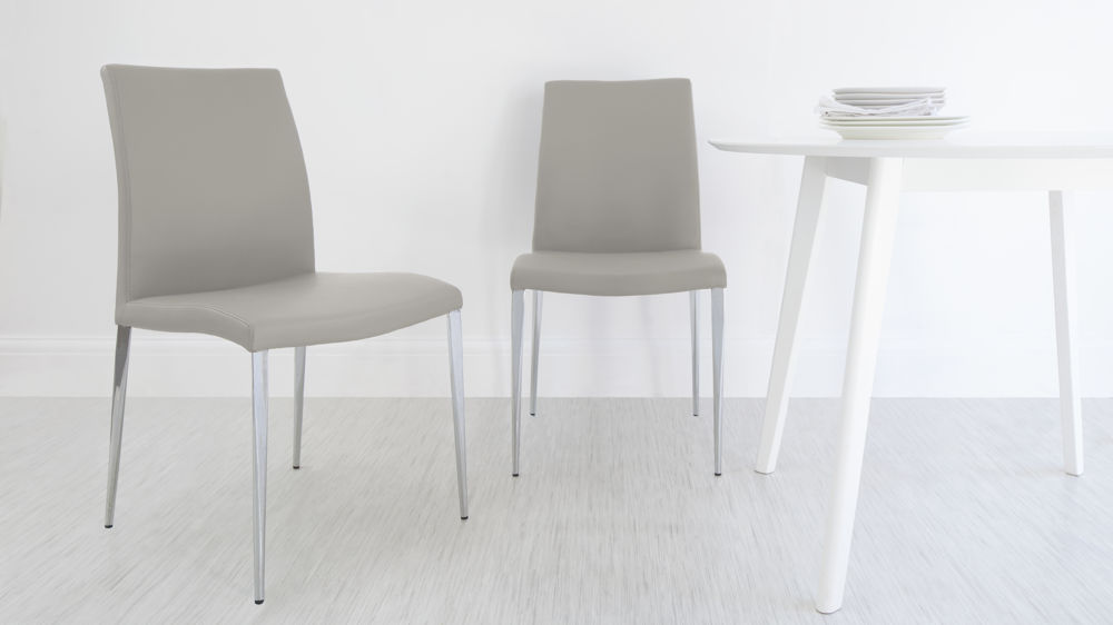 Best Grey Dining Chairs With White Legs Grey Gloss 2 Seater Dining Set Faux Leather Dining Chair