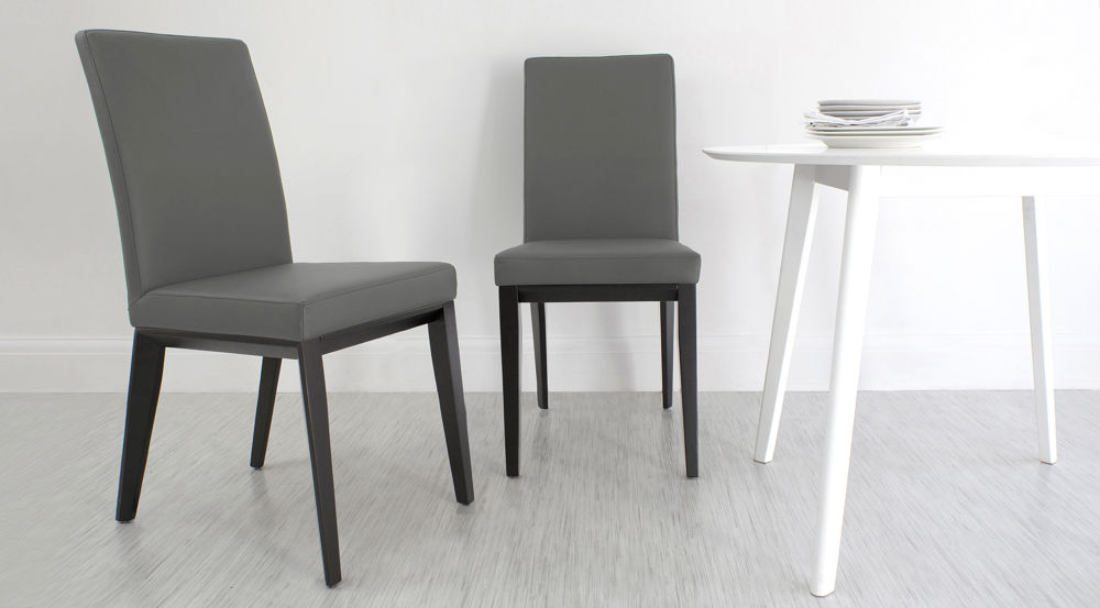 Best Grey Dining Chairs With White Legs Real Leather Dining Chair With Black Wooden Legs White Black Or Grey