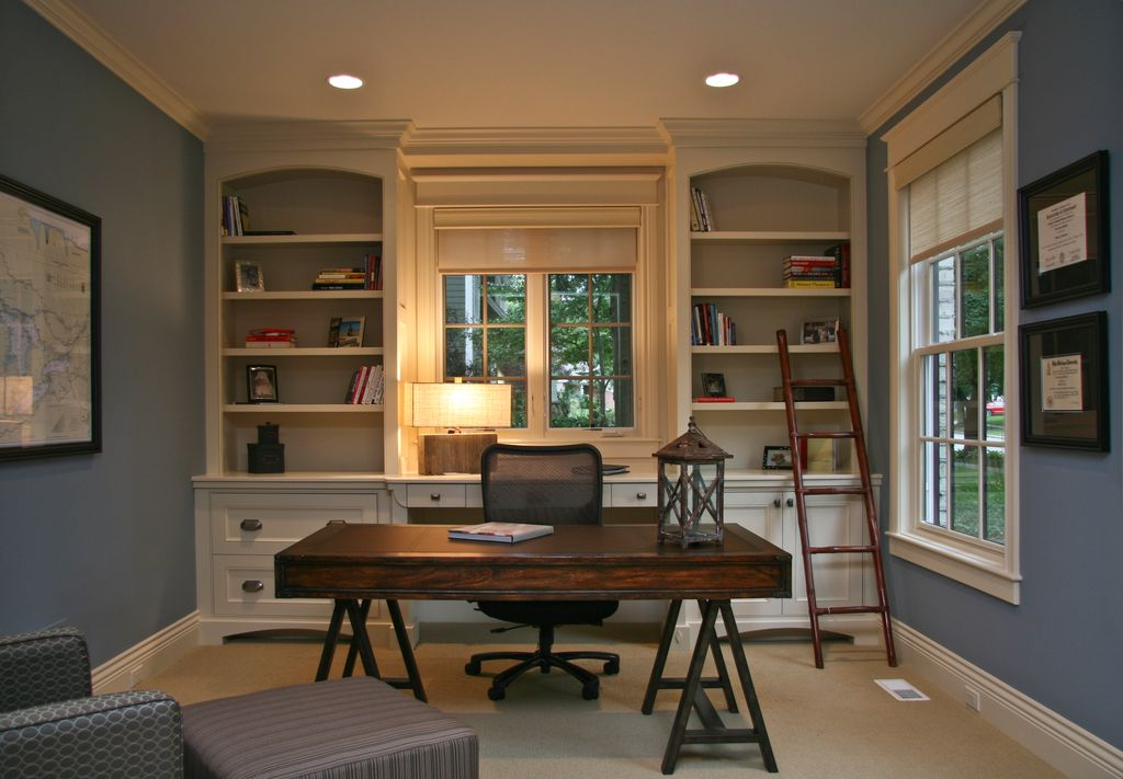 Best Home Office Seating Country Home Office With Crown Molding Falcon Custom Homes