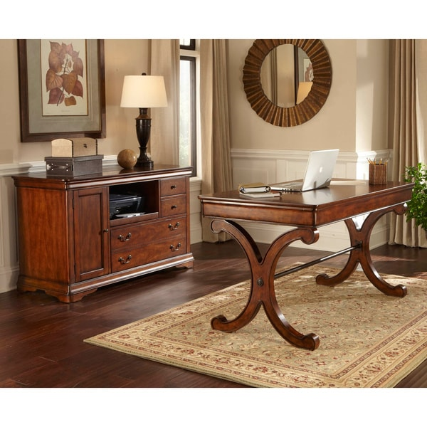 Best Home Office Set Rustic Cherry 2 Piece Home Office Set Free Shipping Today