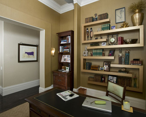 Best Home Office Shelving Home Office Wall Shelves Houzz