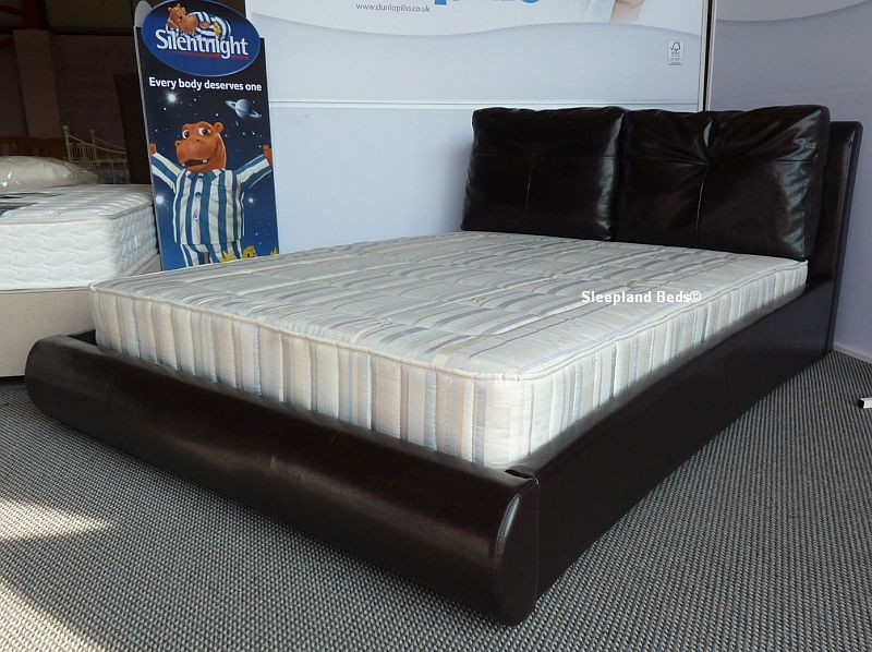 Best King Size Mattress Cushion Brown Faux Leather Beds Kingsize Merida Cushion Bed Frame