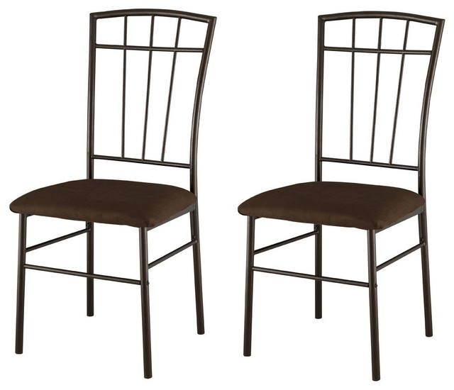 Best Kitchen Side Chairs Set Of 2 Metal With Microfiber Seats Dining Room Kitchen Side