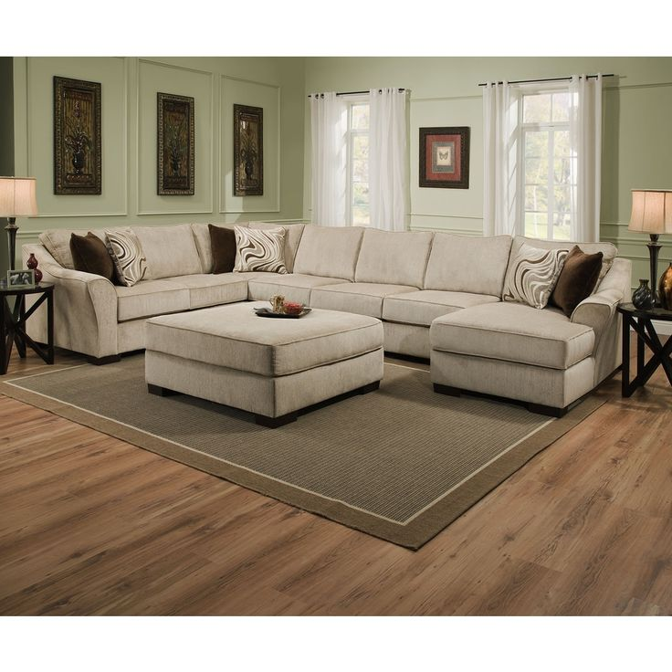 Best Large Sectional Sofa With Ottoman Best 25 Large Sectional Sofa Ideas On Pinterest Large Sectional
